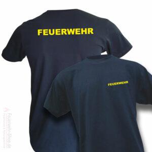 T-Shirt mit Feuerschriftzug