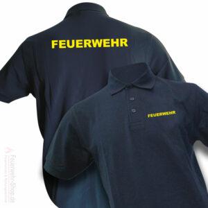 Poloshirt mit Feuerschriftzug