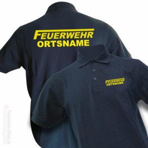 Feuerwehr Premium Poloshirt Logo mit Ortsnamen