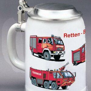 Weihenstephan Bierkrug Feuerwehr-Fahrzeuge 0,5 ltr.