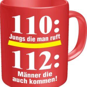Feuerwehr Kaffeetasse rot 110: Jungs die man ruft ...