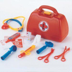 Feuerwehr-Arztkoffer mit Zubehör, Trapezform