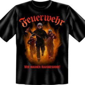 Feuerwehr T-Shirt schwarz ...WIR MACHEN HAUSBESUCHE