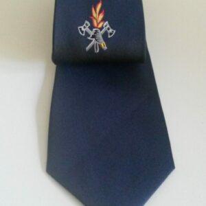 Feuerwehr Krawatte blau mit Emblem