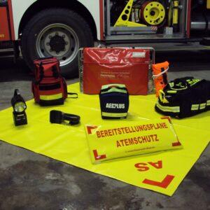 Bereitstellungsplane Atemschutz AS, gelb