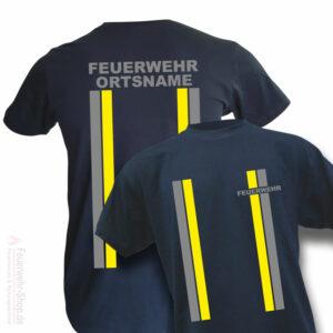 Feuerwehr Premium T-Shirt im Einsatzlook mit Ortsname