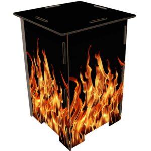 Design Feuerwehr-Sitzhocker Flammen
