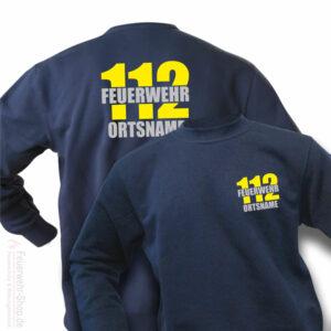 Feuerwehr Premium Pullover Firefighter II mit Ortsnamen