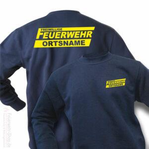 Feuerwehr Premium Pullover Freiwillige Feuerwehr Logo mit Ortsname