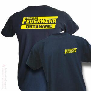 Feuerwehr Premium T-Shirt Freiwillige Feuerwehr Logo mit Ortsname
