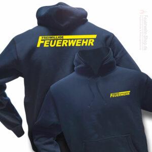 Feuerwehr Premium Kapuzen-Sweatshirt Freiwillige Feuerwehr Logo