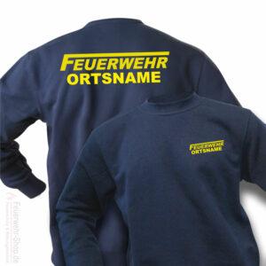 Feuerwehr Premium Pullover Logo mit Ortsname