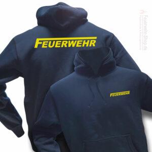 Feuerwehr Premium Kapuzen-Sweatshirt Logo