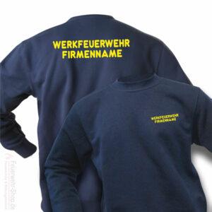 Feuerwehr Premium Pullover Werkfeuerwehr I mit Firmennamen