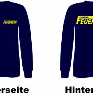 Jugendfeuerwehr Pullover Modell Logo