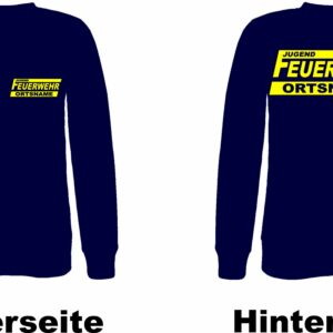 Jugendfeuerwehr Pullover Modell Logo mit Ortsname