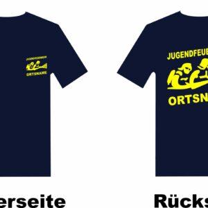Jugendfeuerwehr T-Shirt mit Motiv Firefighter III mit Ortsnamen