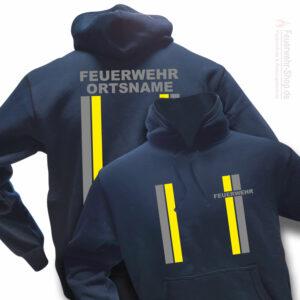 Feuerwehr Premium Kapuzen-Sweatshirt im Einsatzlook mit Ortsnamen