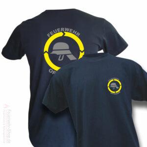 Feuerwehr Premium T-Shirt Helm mit Ortsname
