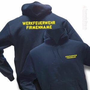 Feuerwehr Premium Kapuzen-Sweatshirt Werkfeuerwehr I mit Firmennamen