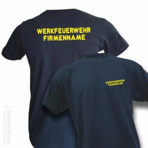 Feuerwehr Premium T-Shirt Werkfeuerwehr I mit Firmenname