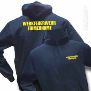 Feuerwehr Premium Kapuzen-Sweatshirt Werkfeuerwehr II mit Firmennamen