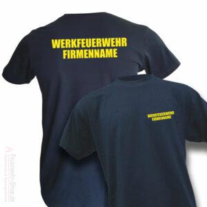 Feuerwehr Premium T-Shirt Werkfeuerwehr II mit Firmennamen
