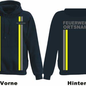 Jugendfeuerwehr Kapuzen-Sweatshirt im Einsatzlook mit Ortsnamen