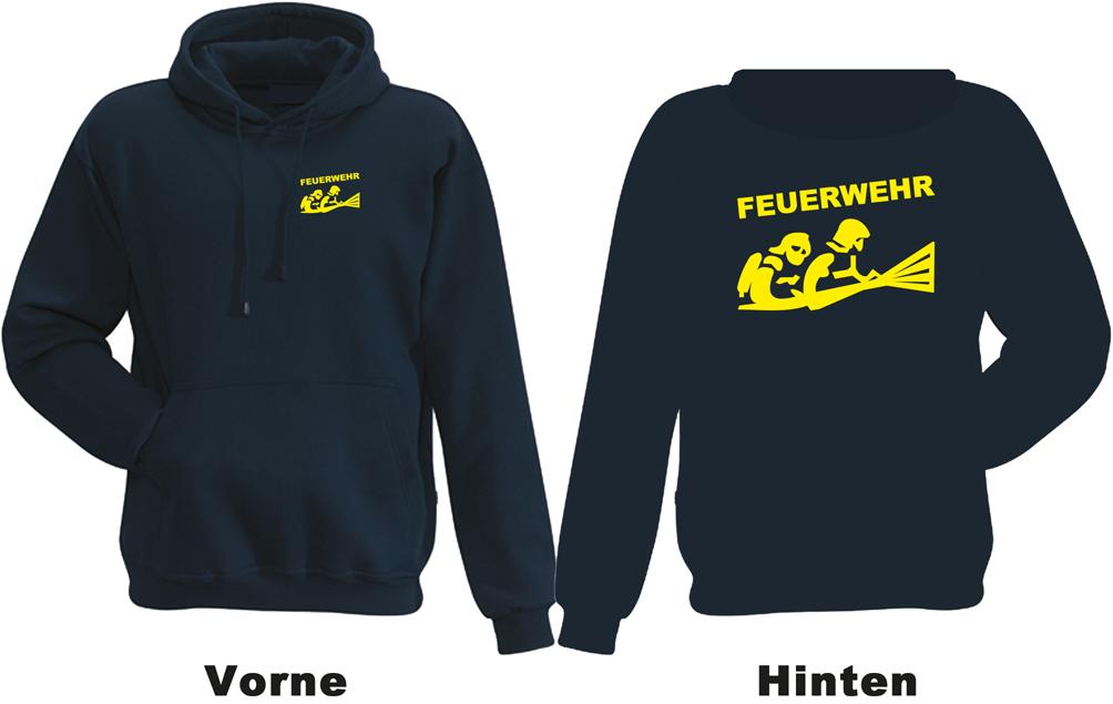 Kapuzen-Sweatshirt Kapuzen-Pullover Hoodie bedruckt mit SECURITY vorne+hinten