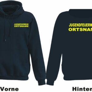 Jugendfeuerwehr Kapuzen-Sweatshirt Modell Basis mit Ortsnamen