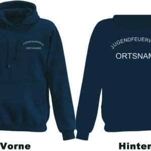 Jugendfeuerwehr Kapuzen-Sweatshirt Rundlogo mit Ortsnamen