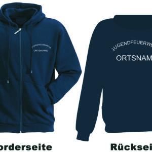 Jugendfeuerwehr Kapuzen-Sweatjacke Rundlogo mit Ortsnamen