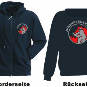 Jugendfeuerwehr Kapuzen-Sweatjacke Modell Firefighter I
