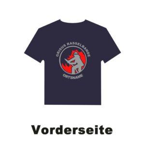 Kinderfeuerwehr T-Shirt Firefighter I mit Ortsnamen