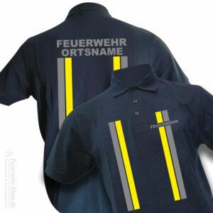 Feuerwehr Premium Poloshirt im Einsatzlook mit Ortsname