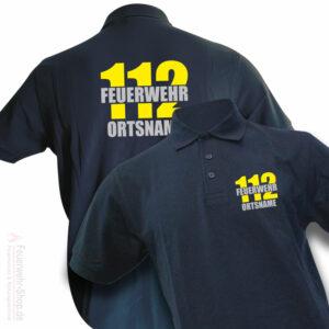 Feuerwehr Premium Poloshirt Firefighter II mit Ortsnameac