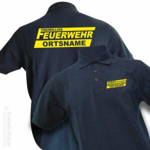 Feuerwehr Premium Poloshirt Freiwillige Feuerwehr Logo mit Ortsname