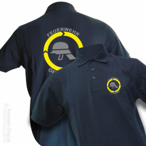 Feuerwehr Premium Poloshirt Helm mit Ortsname