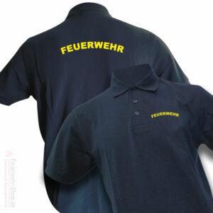 Feuerwehr Premium Poloshirt Rundlogo