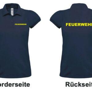 Feuerwehr Damen-Poloshirt Modell Logo