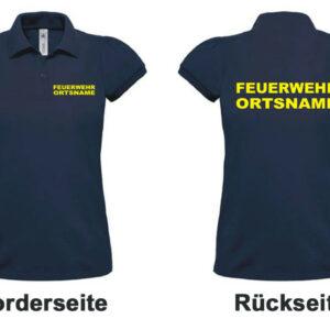 Feuerwehr Damen-Poloshirt Modell Basis mit Ortsname