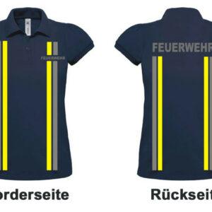 Feuerwehr Damen-Poloshirt Modell Einsatzlook