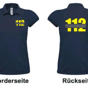 Feuerwehr Damen-Poloshirt mit Motiv Firefighter I