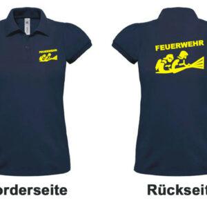Feuerwehr Damen-Poloshirt mit Motiv Firefighter III
