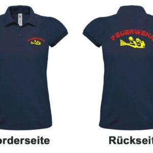 Feuerwehr Damen-Poloshirt mit Motiv Firefighter IIII mit Ortsnamen