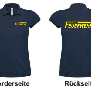 Feuerwehr Damen-Poloshirt Freiwillige Feuerwehr Modell Logo