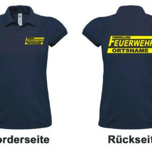 Feuerwehr Damen-Poloshirt Logo mit Ortsnamen