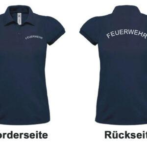 Feuerwehr Damen-Poloshirt Rundlogo