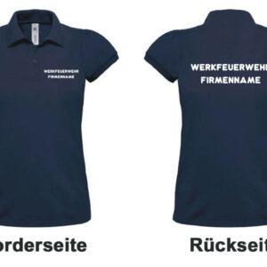 Feuerwehr Damen-Poloshirt Werkfeuerwehr I mit Firmennamen