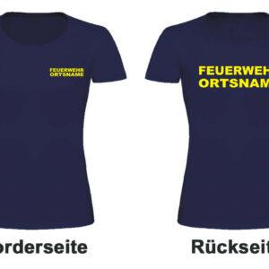 Feuerwehr Damen T-Shirt Modell Basis mit Ortsname